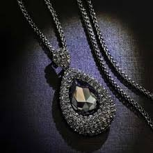 <b>KMVEXO</b> Long Necklaces for Women Collier Femme Water Drop ...