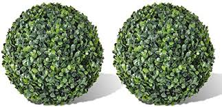 Festnight Boxwood Ball Artificial Leaf Topiary Ball ... - Amazon.com