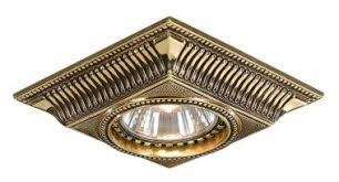 Встраиваемый <b>светильник Reccagni Angelo Spot</b> 1084 Oro ...