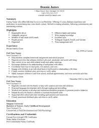 resume for babysitter sample  seangarrette coresume for babysitter sample