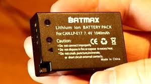 "<b>Аккумуляторы</b> из Китая для Canon 77 D <b>LP</b>-<b>E17</b> ""Batmax"" - YouTube"