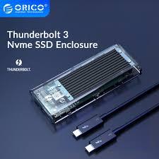 <b>ORICO</b> Thunderbolt 3 <b>M.2 NVME SSD</b> Case 40Gbps USB C ...