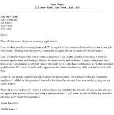 web developer cover letter sample   lettercv comweb developer cover letter