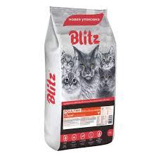 <b>Сухие корма</b> для кошек <b>BLITZ</b>