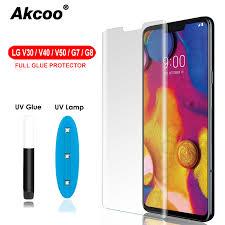 <b>Akcoo</b> 3D Curved Tempered Glass For LG V30 V40 G7 <b>G8</b> V50 ...