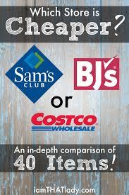 costco vs sam s vs bj s price comparison of household items costco vs sam s vs bj s