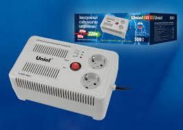 <b>Стабилизатор</b> напряжения <b>U</b>-<b>RST</b>-<b>500/1</b> настольный <b>Uniel</b> UL ...