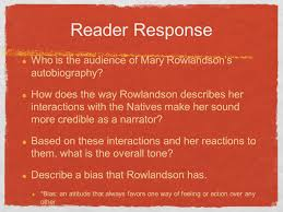 time cuts down all both great and small rdquo ldquo a dog will bite a thief reader response who is the audience of mary rowlandson s autobiography