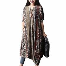ZANZEA Kaftan Maxi <b>Dress Women</b> Sleeveless <b>Summer Sundress</b> ...
