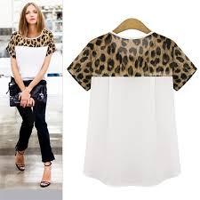 <b>Plus</b> Size Chiffon <b>Blouse</b> Women <b>Blouses</b> Leopard Print <b>Shirt</b> ...