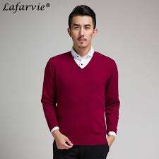 <b>Lafarvie New</b> Slim Knitted Cashmere Wool Sweater Men Tops ...