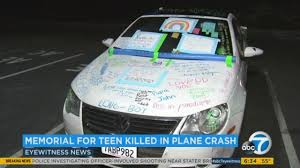 high school com hs student s car becomes memorial after plane crash kills family