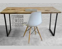 modern wood desk with reclaimed wood top in choice of sizes or finishes rustic wood brooklyn modern rustic reclaimed wood