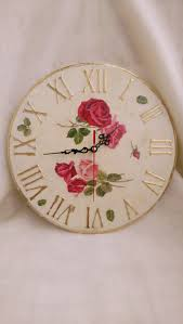 dog faces ceramic bathroom accessories shabby chic: wall clock shabby chic large wall clock roses wall decor shabby chic home accessories housewarming gift gift for woman new home gift