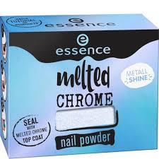 Эффектная <b>пудра</b> для <b>ногтей Melted</b> Chrome Синий 01 ESSENCE