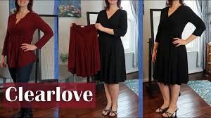 CLEARLOVE WOMEN'S <b>CLOTHING V-Neck Dress</b> Tunic Top (Plus ...