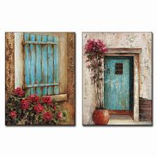 Wall Art Sets For Living Room 2 Pcs Set Modern Abstract Oil Art Painting On Canvas Landscape