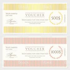 voucher gift certificate coupon template stock vector art 1 credit