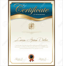 certificate template stock vector diploma template sample golden formal award certificate template