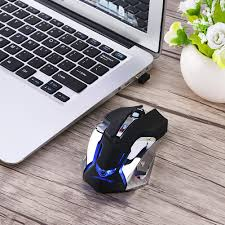 wireless mouse rechargeable slient buttons computer 2400dpi gaming mice built in lithium battery 2 4g optical engine