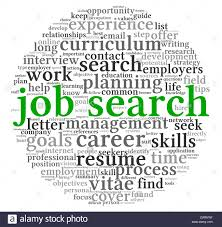 job search concept in word tag cloud on white background stock job search concept in word tag cloud on white background