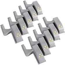 10 PCS Universal <b>Cabinet Cupboard Hinge LED Light</b> for Modern ...