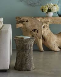 Our <b>Drum Stool</b> is made from reclaimed, <b>solid mango</b> wood and ...
