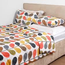 living room orla kiely multi: orla kiely scribble stem print pillowcases set of