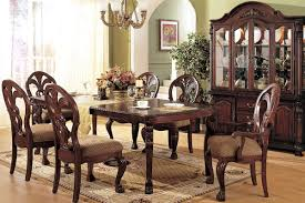 vintage decor clic: fascinating oak cabi facing antique dining room furniture with wooden chairs and teak table under small