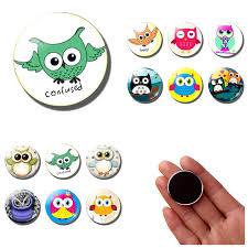 <b>Cute</b> Cartoon <b>Owl bird</b> fridge magnets for kids decor <b>lovely</b> animal ...