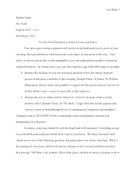 poetry essay poetry comparison essay help