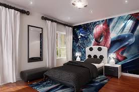 furniture spiderman wall paper along dining room large size awesome bedrooms for teenage boys design decorating with wooden charming bedroom charming boys bedroom furniture spiderman