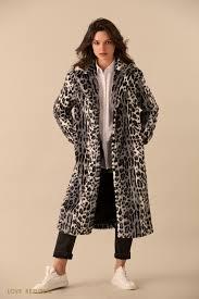 <b>Длинное пальто из</b> искусственного меха с леопардовым принтом ...