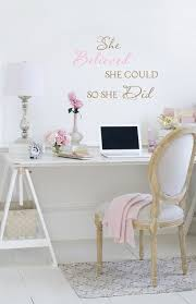 auch an easy desk to make love this vintage rose collection my office space jo anne coletti white office romantic shabby chic style chic mint teal office