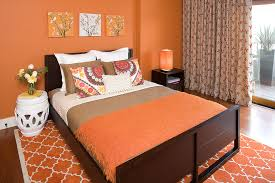 burnt orange furniture bedroom contemporary with wall art floral pillows burnt orange furniture