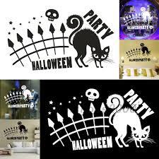 Hot Halloween Party <b>Carved</b> Window Mural <b>Vinyl</b> Art Home Decor ...