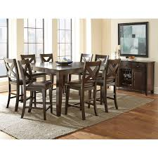 tabacon counter height dining table wine: quick view steve silver crosspointe  piece counter height dining table