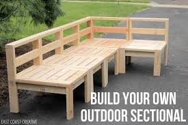 how to build an outdoor sectional knock it off buy diy patio furniture
