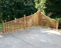 patio privacy fence red cedar lattice corner fencing fence  red cedar lattice corner fenci