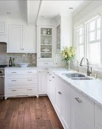 beautiful white kitchen cabinets: white kitchen with inset cabinets via bloglovincom