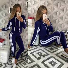 Zogaa Women <b>two piece set top</b> and pants Casual Sport Suit Plus ...