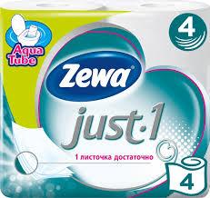 <b>Туалетная бумага Zewa Just</b> 1, 4 слоя, 4 рулона