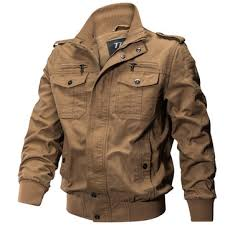outdoor tactical washed cotton <b>plus size military jacket</b> at Banggood