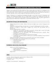 marketing manager singapore and job description