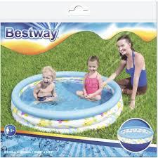 <b>Бассейн надувной</b> круглый <b>детский Bestway</b> Океан 122x122x25 ...