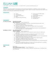 best data entry resume example   livecareerdata entry resume example