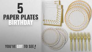 Best <b>Paper Plates</b> Birthday [2018]: White and <b>Gold Dot</b> Disposable ...