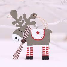 Shop <b>FUNNYBUNNY</b> 2PCS <b>Christmas</b> Wooden Elk Pendant ...