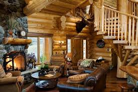amusing rustic wooden cabin with classic home accessories log cabin style decor idea with leather amusing rustic small home