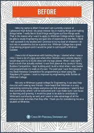 Personal statement university